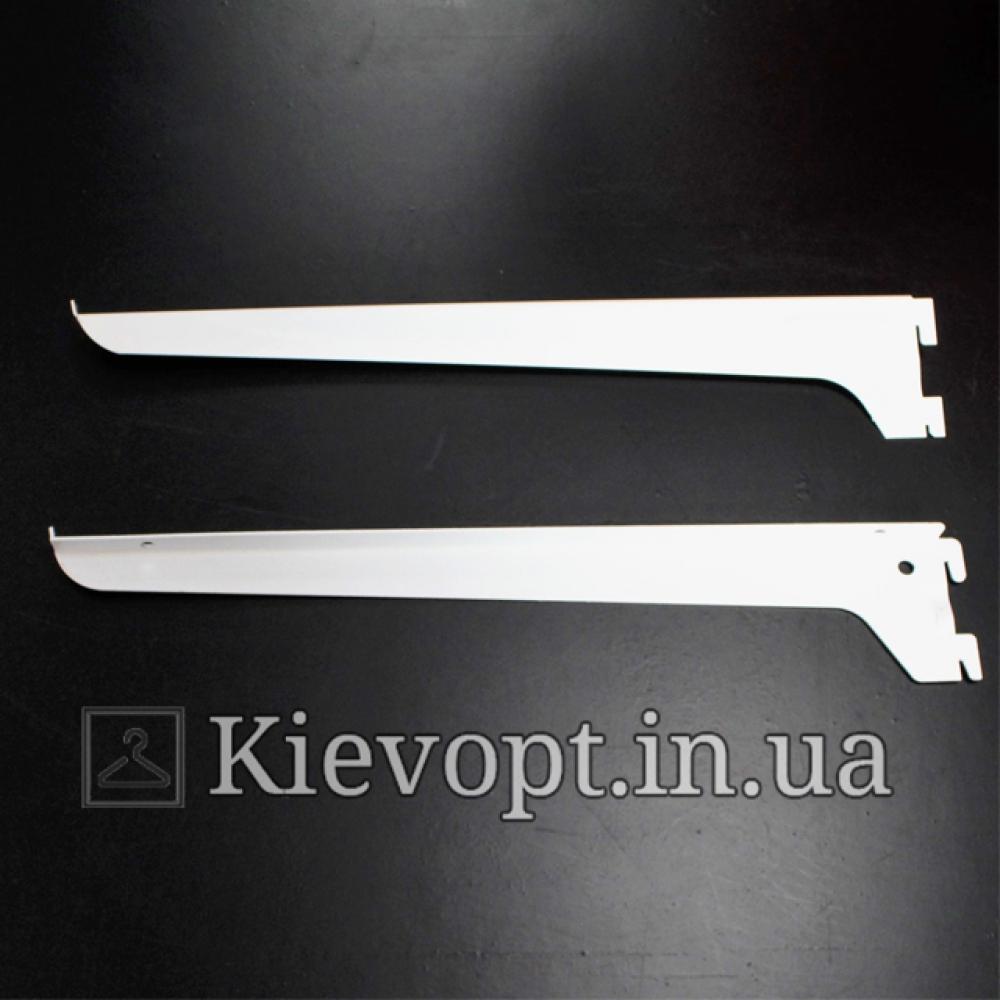 Полкодержатель белый в рейку (профиль) 30 см, 2 шт