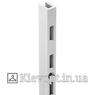 Рейка (профиль) однорядная белая, 2 м