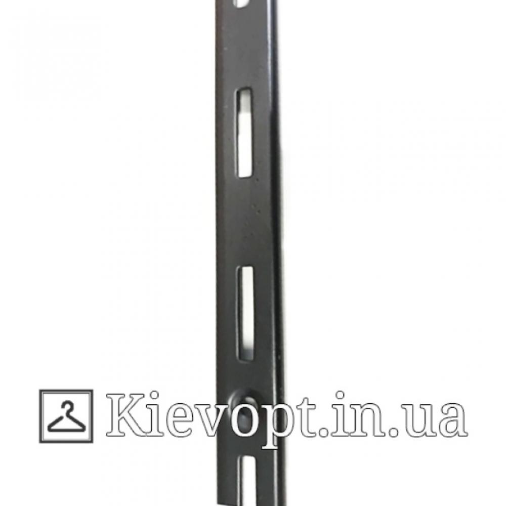 Рейка (профиль) однорядная черная, 2 м