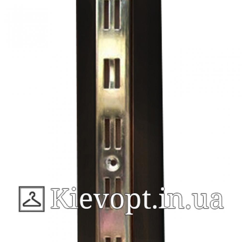 Рейка (профиль) хромированная двойная черная, 2 м