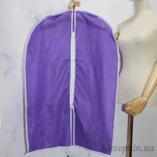 Чехол для одежды флизелиновый тканевый фиолетовый, 60х90 см