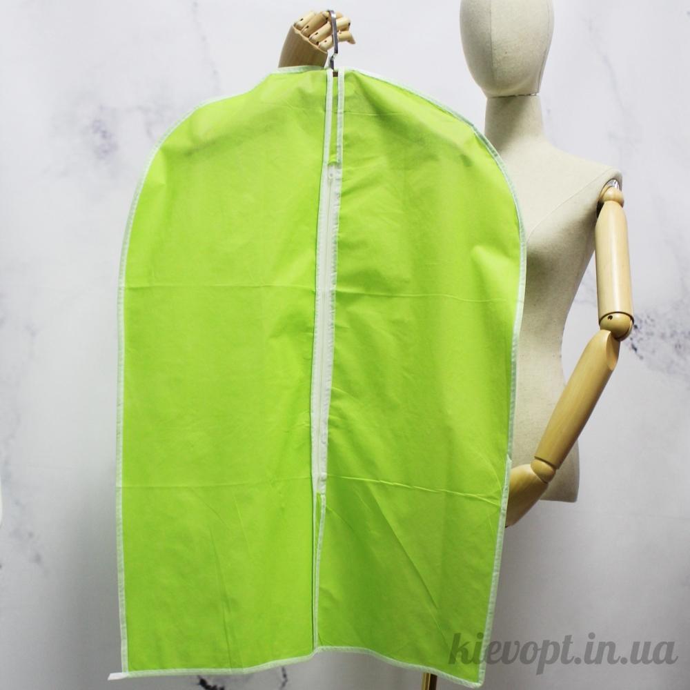 Чехол для одежды флизелиновый тканевый салатовый, 60х90 см