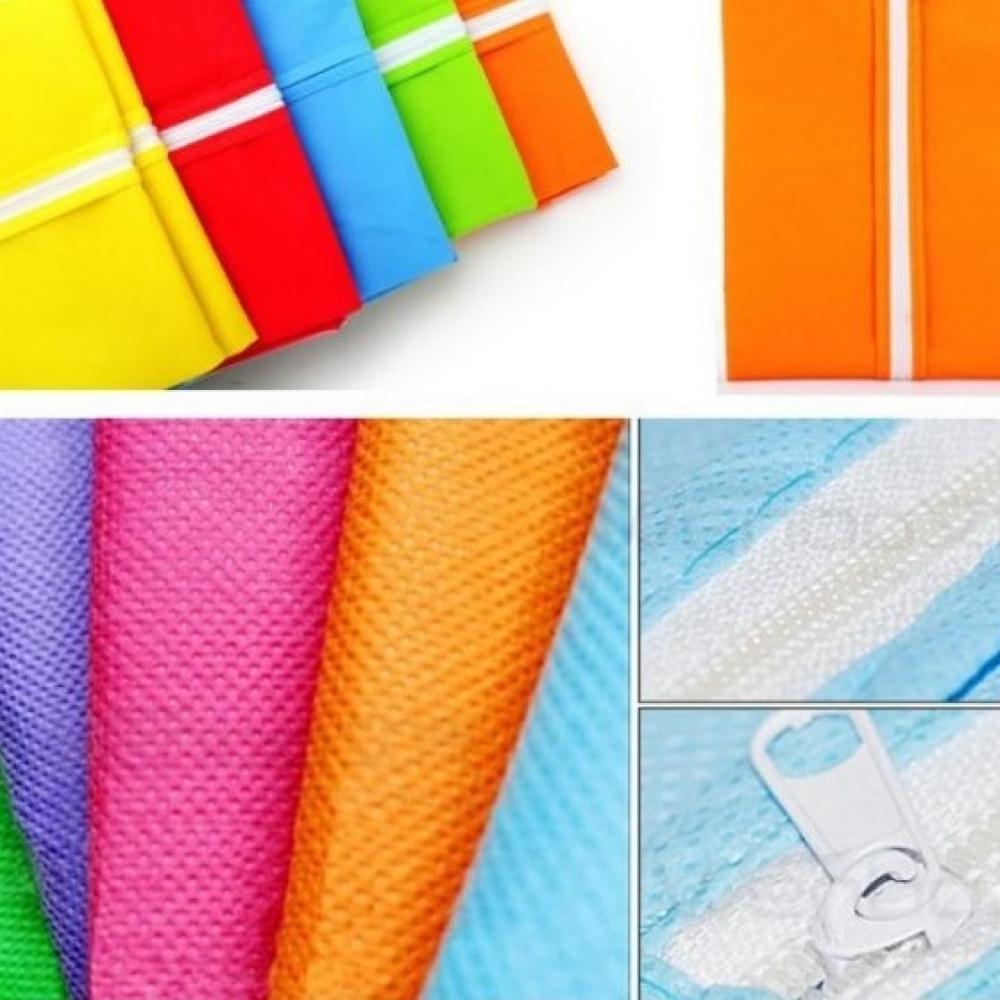 Чехол для одежды флизелиновый тканевый синий, 60х90 см