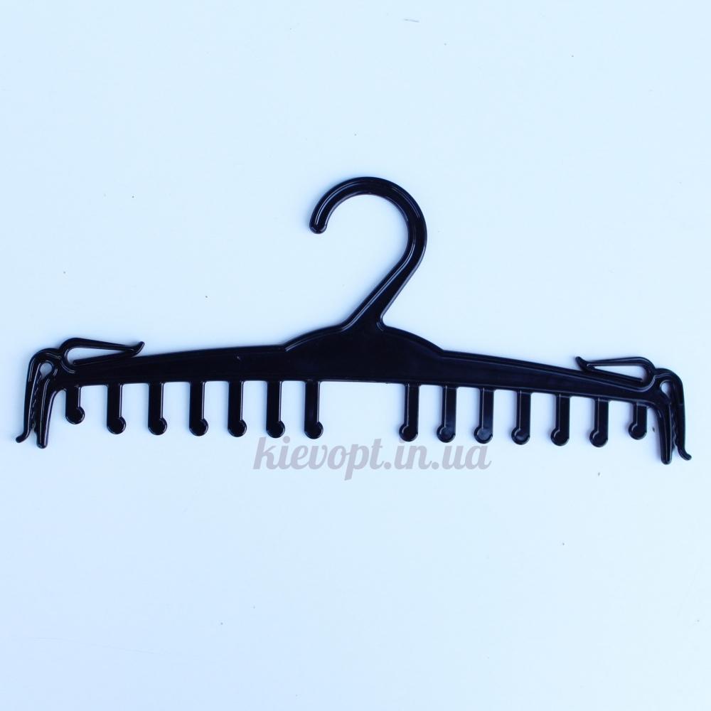 Плечики вешалки для комплектов нижнего белья гребенки черные, 27 см