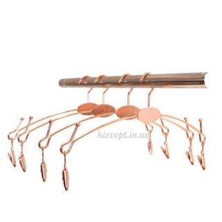 Плечики вешалки для нижнего белья с прищепками бронза, 28 см