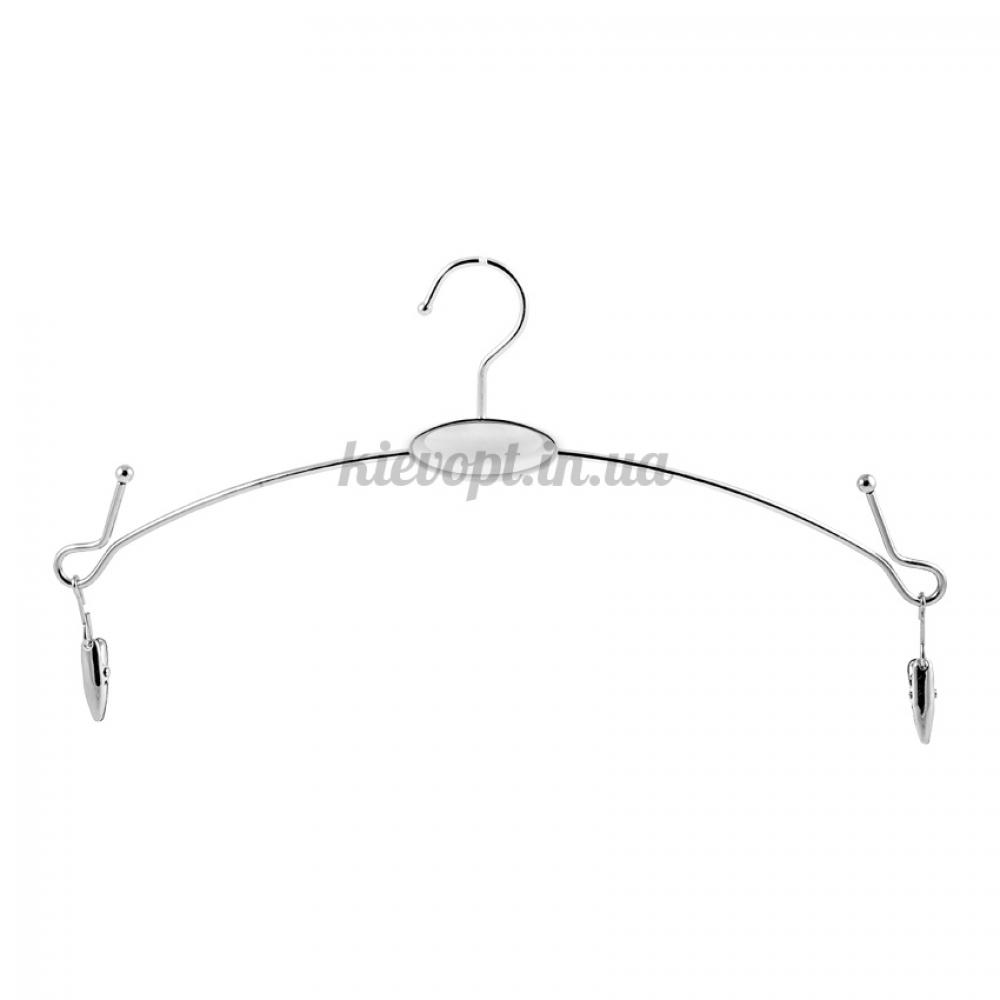 Плечики вешалки для нижнего белья с прищепками серебро, 28 см