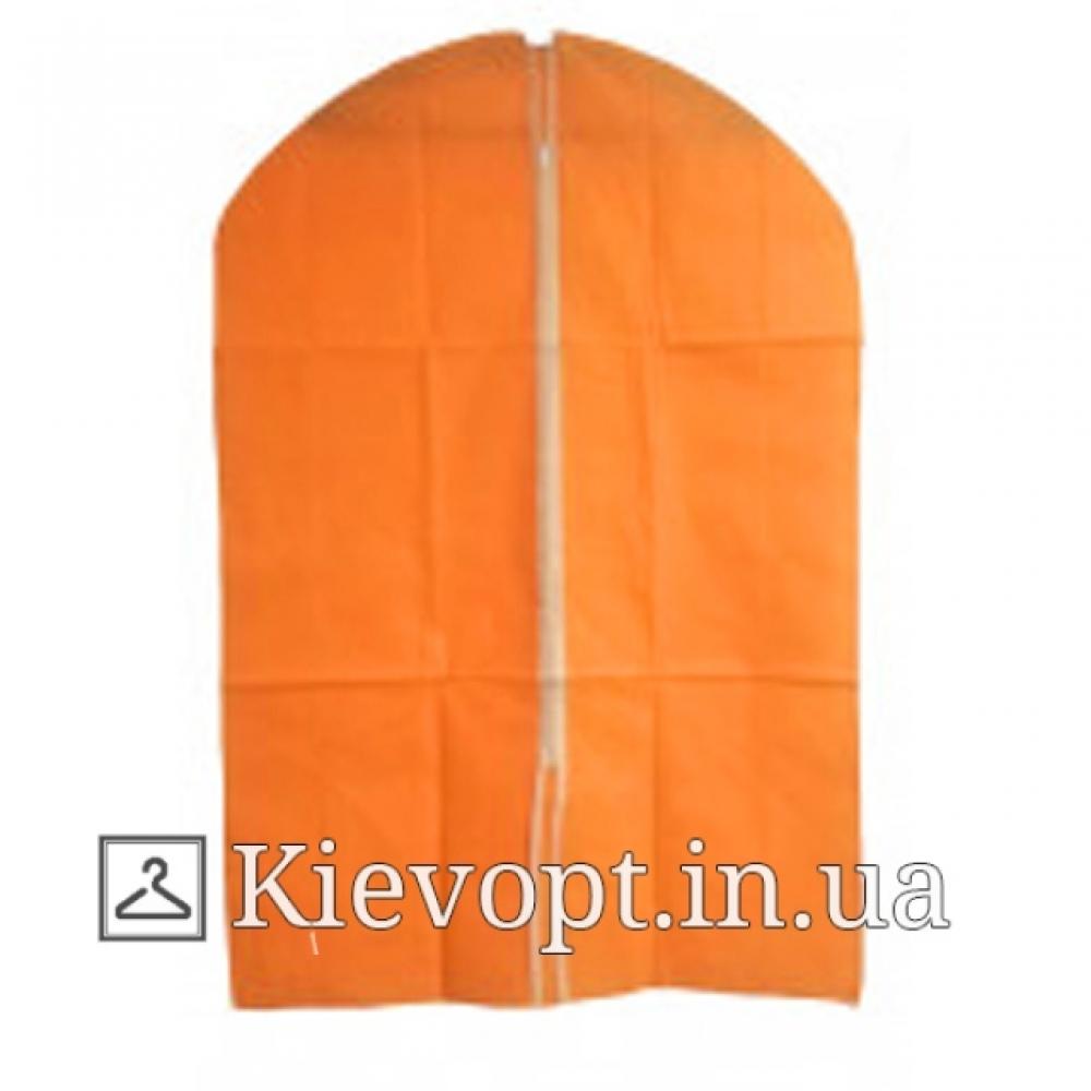 Чехол для одежды флизелиновый тканевый оранжевый, 60х90 см