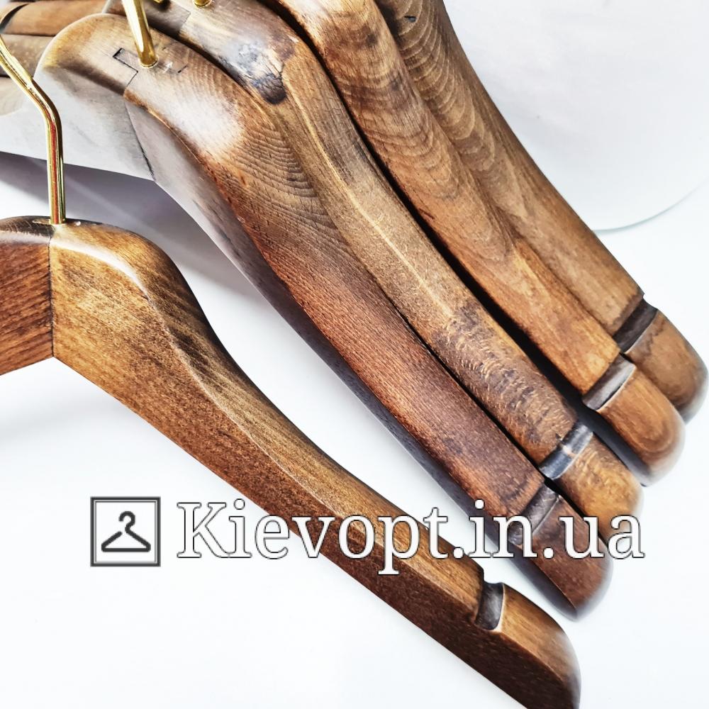 Вешалки деревянные для всех типов одежды Италия VIP, 44 см (09-05-10)