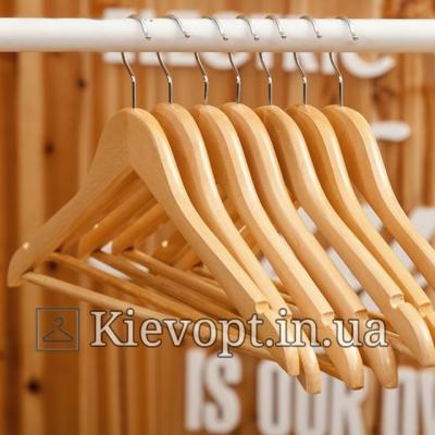 Деревянные вешалки плечики для легкой одежды