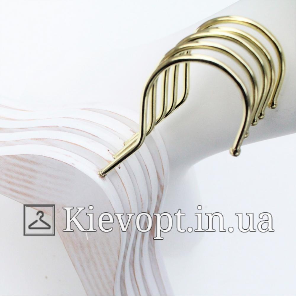Деревянные вешалки для одежды под старину белые, 38 см (09-14-01)