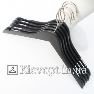 Деревянные плечики вешалки для одежды черные, 38 см