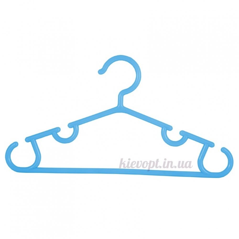 Детские плечики вешалки для костюмов голубые, 28 см
