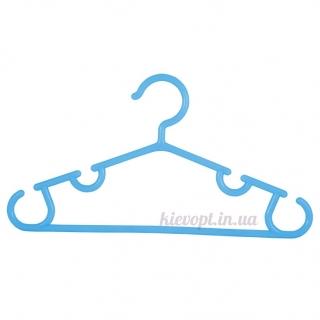 Детские плечики вешалки для костюмов голубые, 28 см, 6 шт