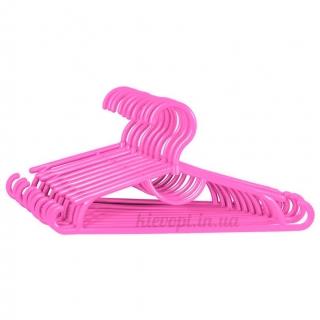 Детские вешалки плечики пластиковые розовые, 31 см, 10 шт