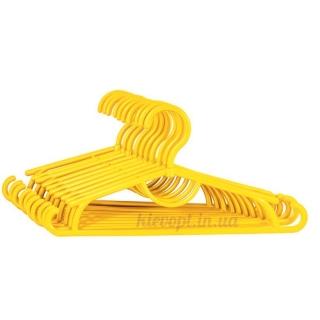 Детские вешалки плечики пластиковые желтые, 31 см