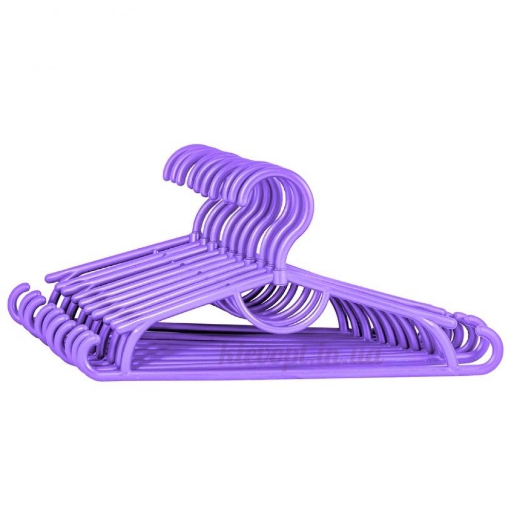 Детские вешалки плечики пластиковые фиолетовые, 31 см, 10 шт