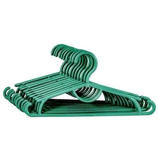 Детские вешалки плечики пластиковые зеленый металлик, 31 см