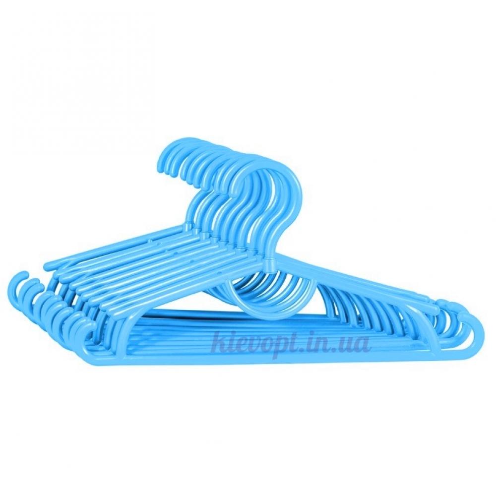 Детские вешалки плечики пластиковые голубые, 31 см, 10 шт