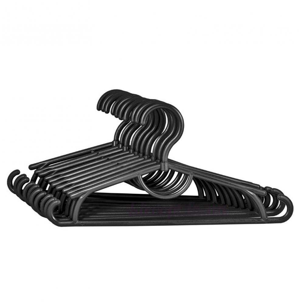 Детские вешалки плечики пластиковые черные, 31 см