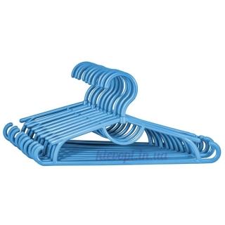 Детские вешалки плечики пластиковые синий металлик, 31 см