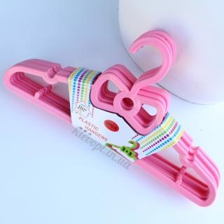 Детские вешалки плечики костюмные розовые, 29 см
