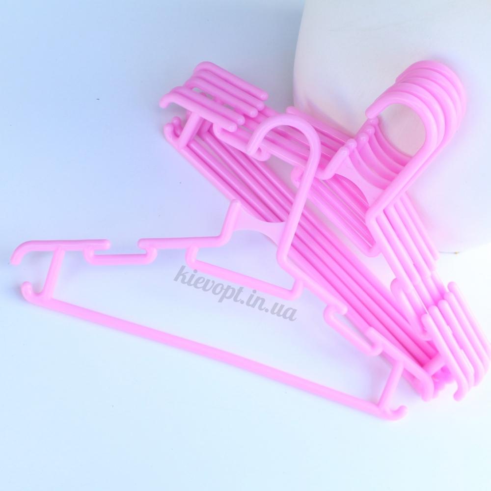 Детские плечики вешалки костюмные малиновые и розовые, 28 см