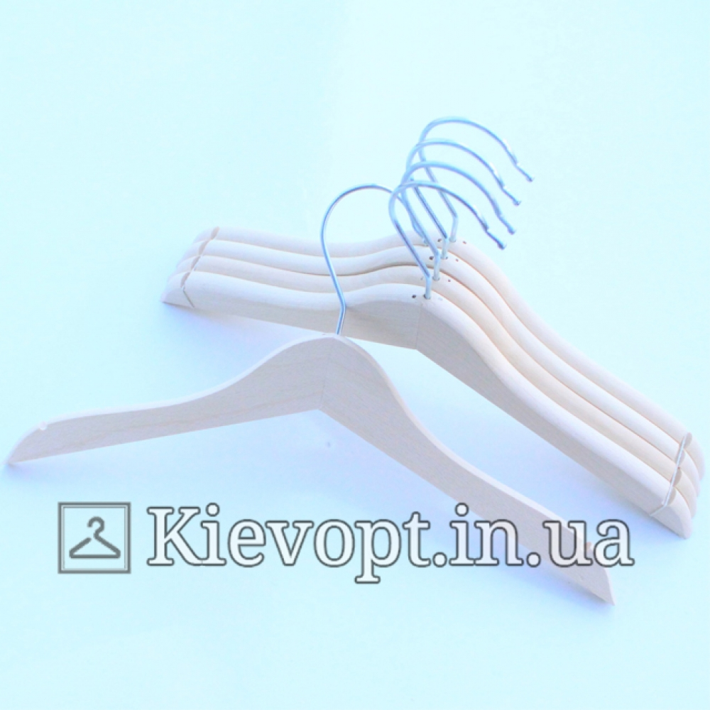 Детские плечики вешалки деревянные не лакированые, 31 см (04-09-01)