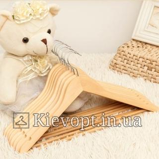 Детские плечики вешалки деревянные лакированные, 31 см