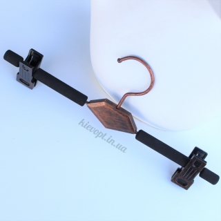 Плечики вешалки поролоновые с прищепками для юбок и брюк под старину Loft, 33 см