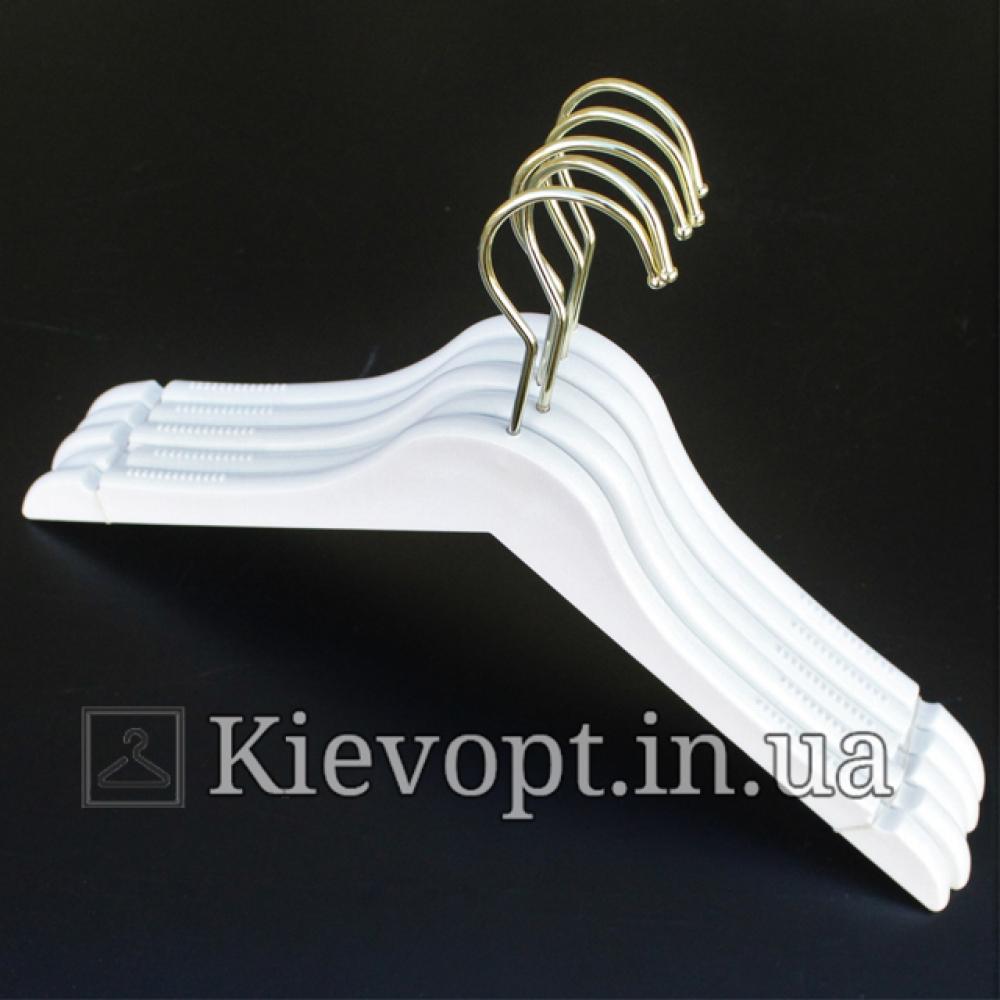 Плечики вешалки акриловые белые Lux, 40 см (02-01-06)