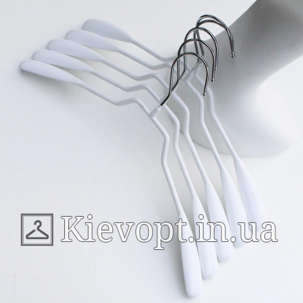 Плечики вешалки металлические для одежды белые, 39 см (03-04-04)