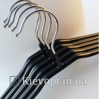 Плечики вешалки металлические в силиконовом покрытии, 43 см