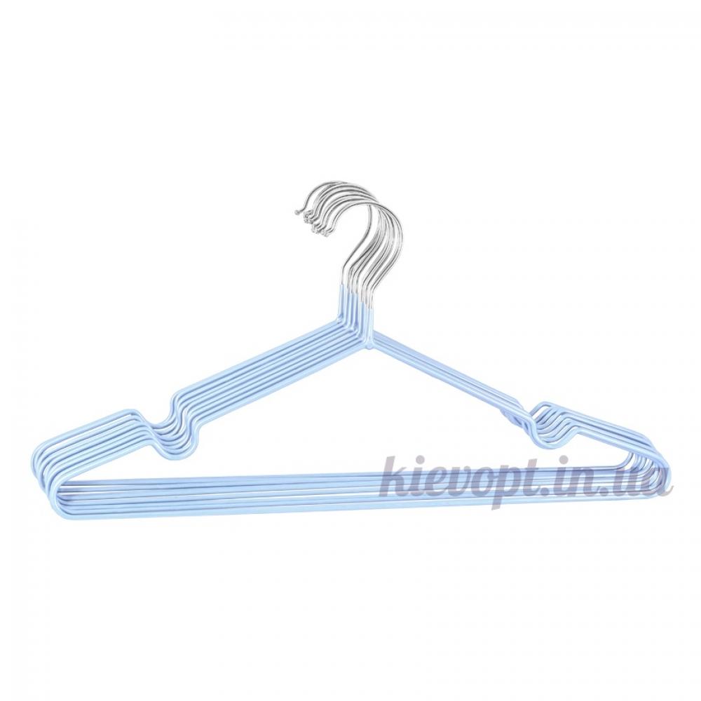 Металлические вешалки плечики в силиконовом покрытии лавандовые, 40 см, 10 шт