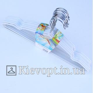 Металлические вешалки плечики толстые белые, 40 см (10 шт.) (03-01-22)