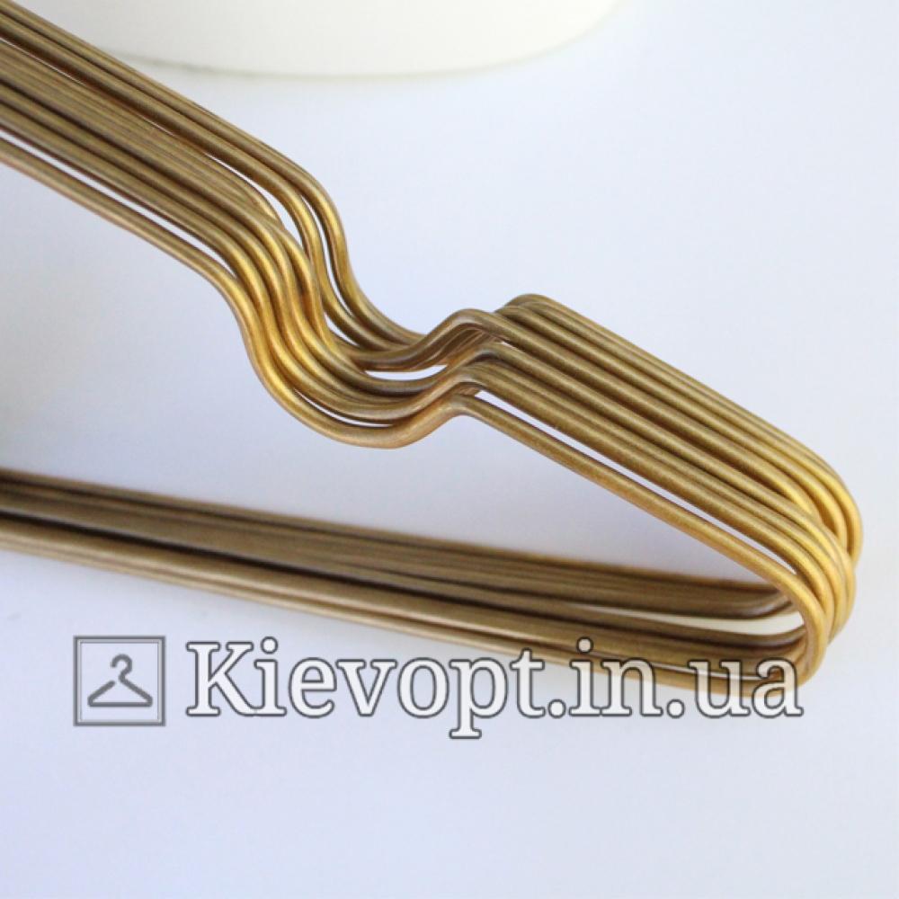 Металлические вешалки плечики золото 40 см, 10 шт (03-01-06)