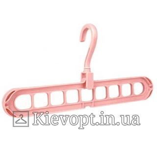 Умная вешалка - органайзер для одежды розовая