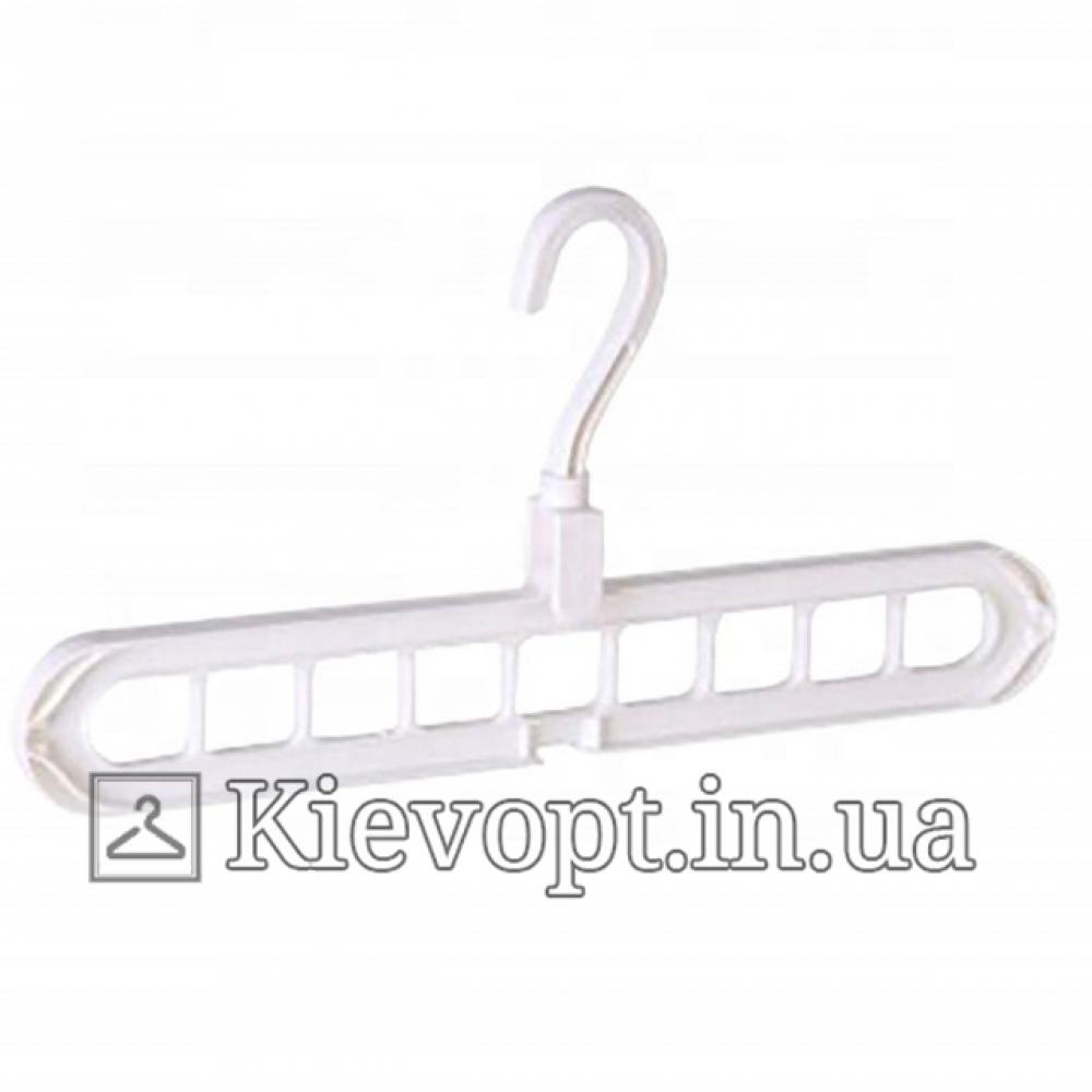 Умная вешалка - органайзер для одежды белая