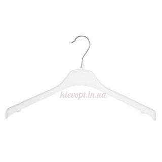Плечики вешалки пластиковые для трикотажа белые, 38 см (02-12-04)