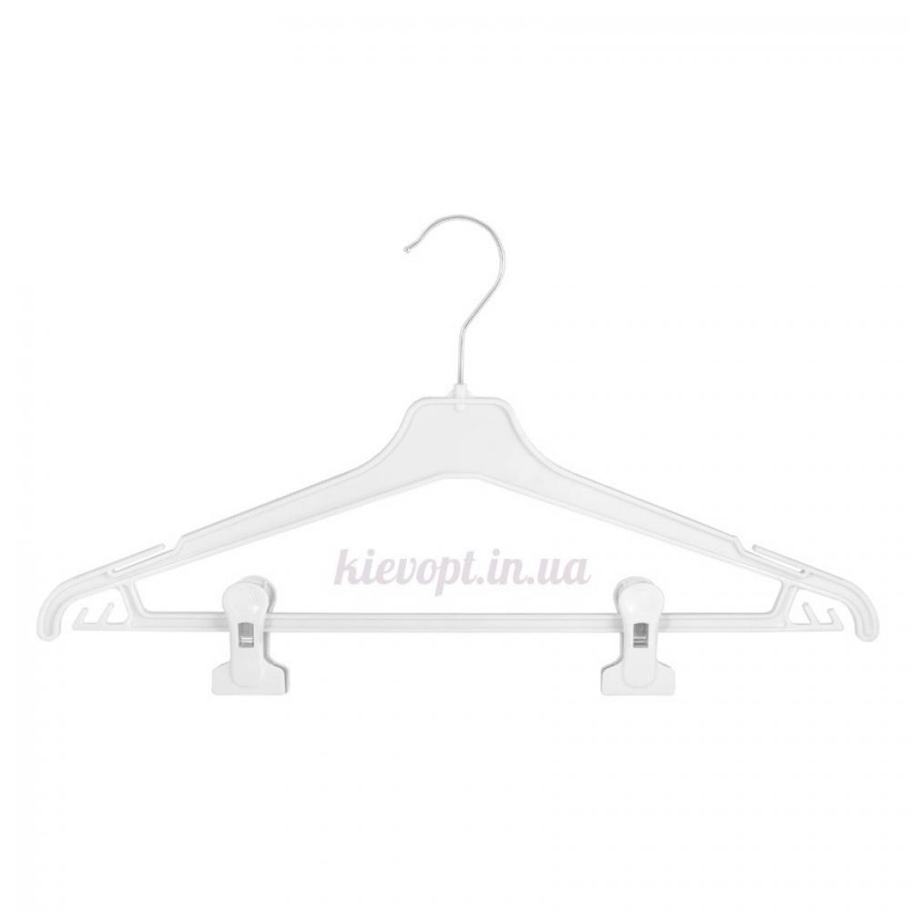 Плечики вешалки пластиковые для костюмов с прищепками, 45 см (02-24-06)