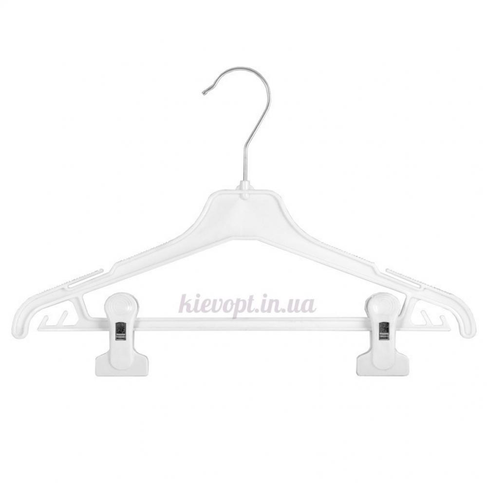 Плечики вешалки пластиковые для костюмов с прищепками, 35 см (02-24-07)