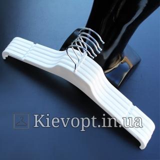 Плечики вешалки пластиковые для легкой одежды белые, 43 см (02-21-10)