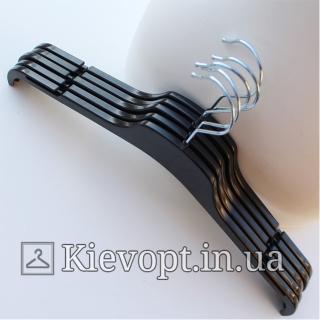 Плечики вешалки пластиковые для легкой одежды черные, 38 см (02-21-02)