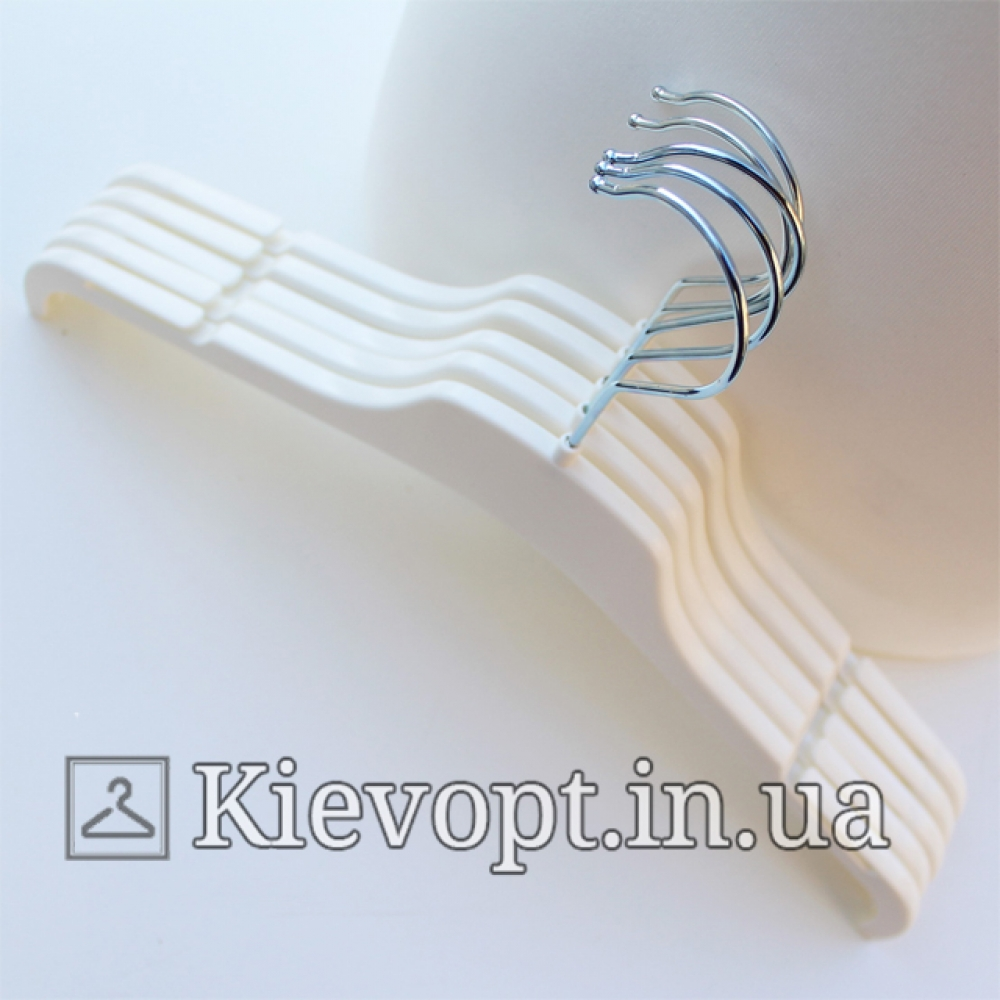 Плечики вешалки пластиковые для легкой одежды белые, 38 см (02-21-11)