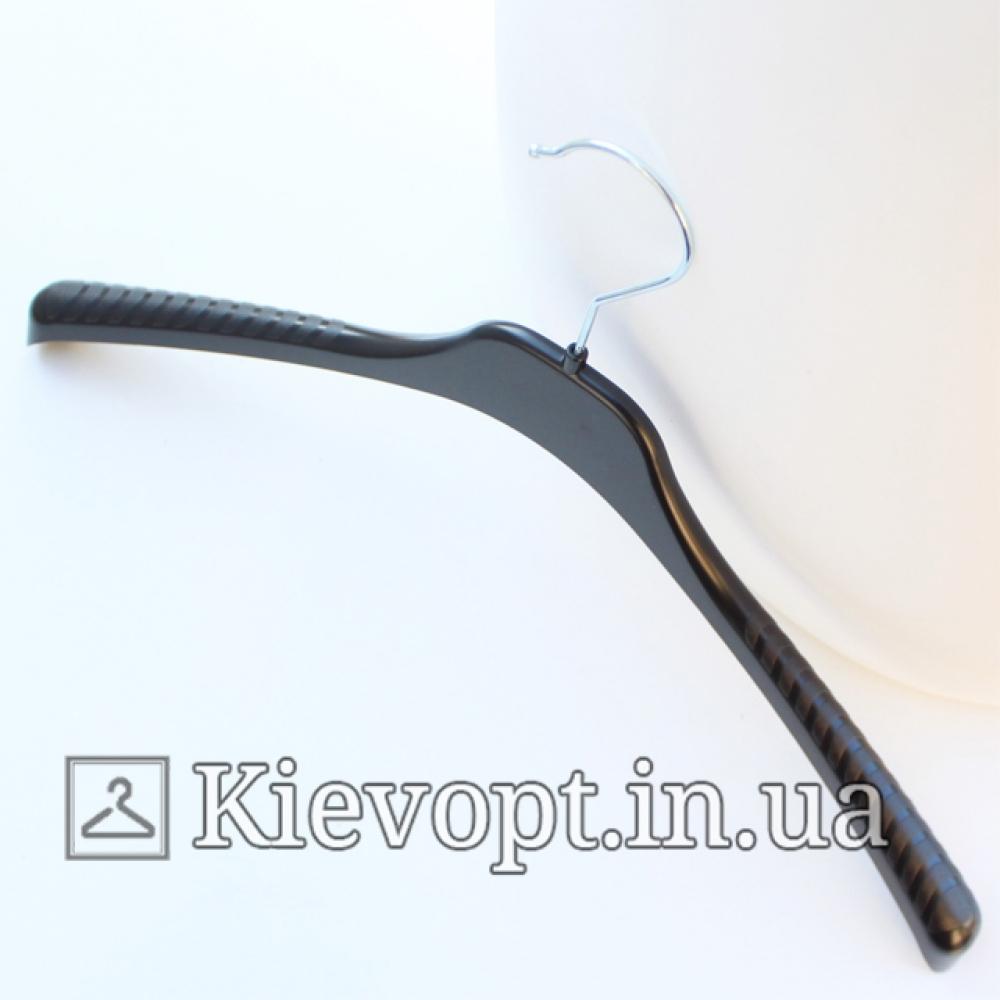 Плечики вешалки пластиковые для трикотажа черные, 42 см (02-23-09)