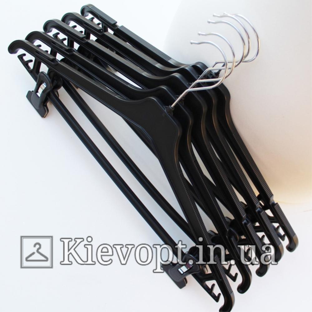 Плечики вешалки пластиковые для костюмов черные, 45 см (02-24-08)