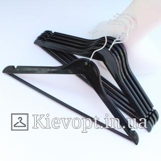 Плечики вешалки акриловые для одежды черные, 44 см (02-01-08)