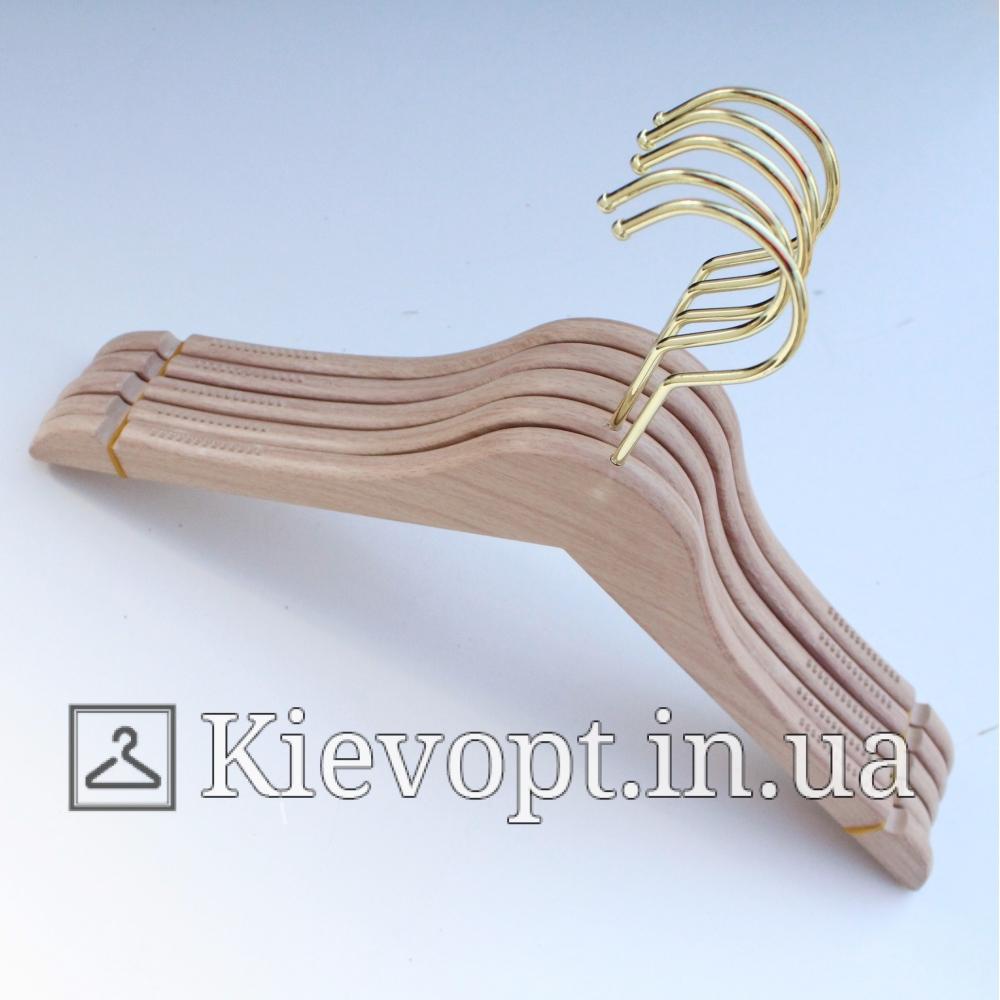 Плечики вешалки акриловые под светлое дерево, 40 см (02-01-05)