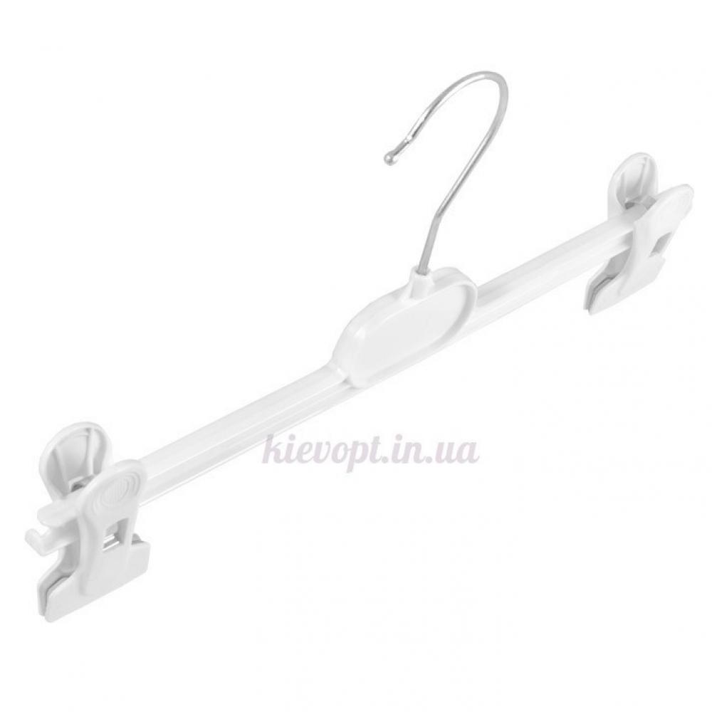 Брючные вешалки плечики с прищепками белые, 36 см (06-01-07)