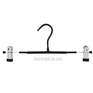 Брючные вешалки плечики с прищепками и силиконовым покрытием, 30 см