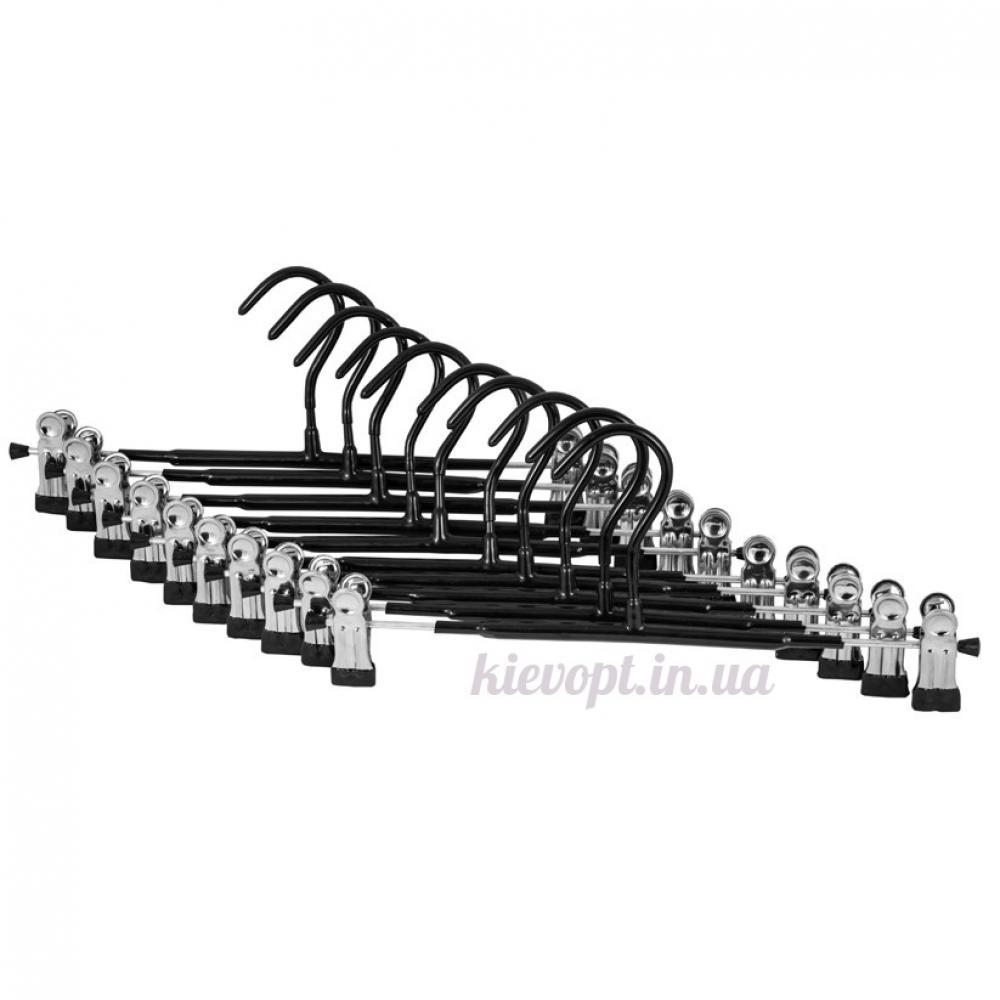Брючные вешалки плечики с прищепками и силиконовым покрытием, 35 см